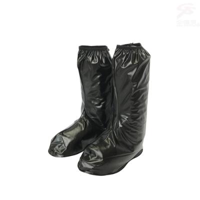 金德恩 台灣製造 M~3XL男女款半筒靴型反光條雨鞋套/馬靴