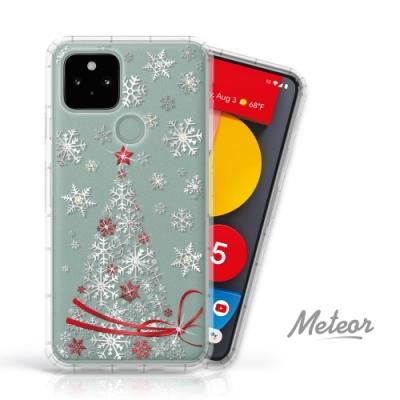 Meteor Google Pixel 5 奧地利水鑽殼 - 緞帶聖誕樹(多鑽版)