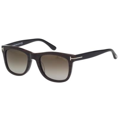 TOM FORD 方形 太陽眼鏡(木紋色)TF9336