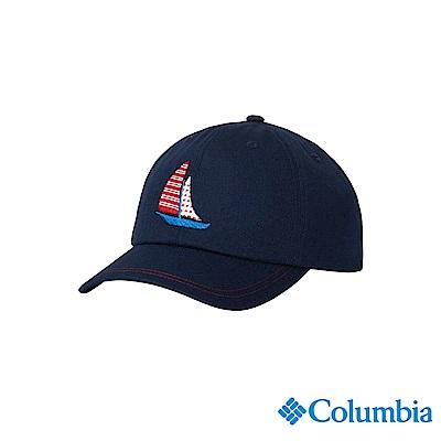 Columbia 哥倫比亞 兒童-UPF50棒球帽-深藍 UCY00740NYFDS