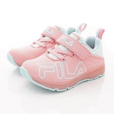 FILA頂級童鞋 針織簡約機能款 EI27S-533粉藍(中小童段)