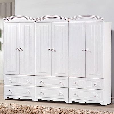 AS-伊森白色8x7尺衣櫥-240x57x197cm
