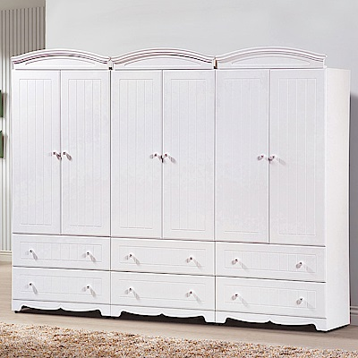 AS-桑妮白色8×7尺衣櫥-240*57*197cm