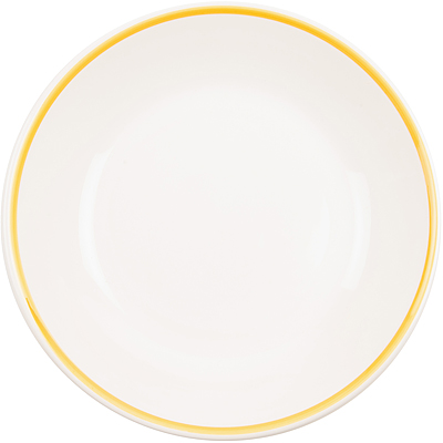 《EXCELSA》陶製勾邊餐盤(黃M)