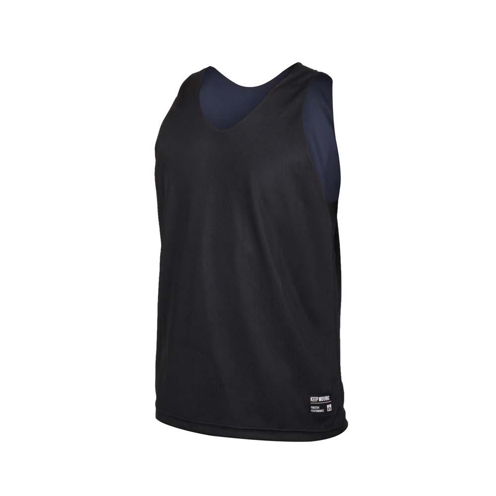 FIRESTAR 男雙面訓練籃球背心-球衣 無袖上衣 運動 吸濕排汗 台灣製 B1707-10 黑丈青