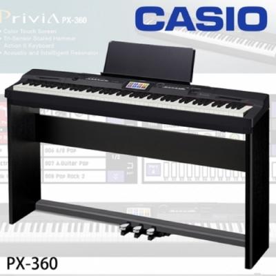 CASIO PX-360 數位鋼琴/電鋼琴/含伴奏功能彩色觸控介面/公司貨保固