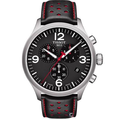 TISSOT天梭 韻馳系列 Chrono XL 計時時尚腕錶-45mm