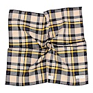 Calvin Klein 都會簡約拼色純綿帕巾-黃藍色