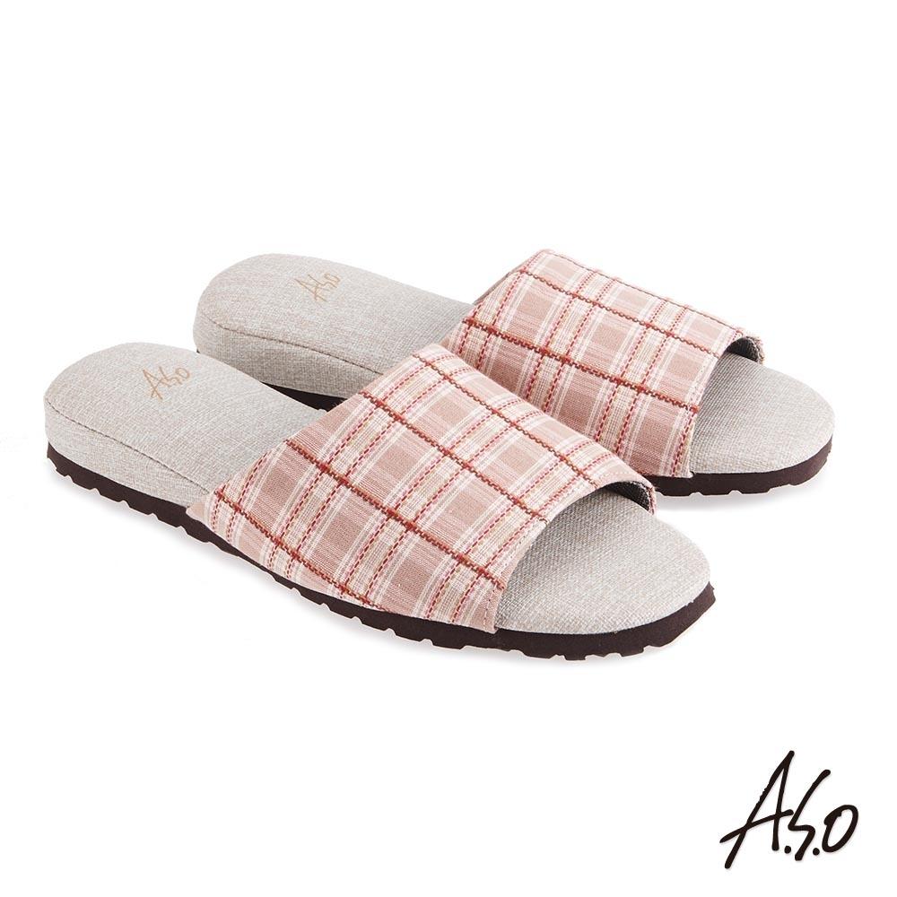 A.S.O 竹炭內裡紓壓抑菌系列居家鞋(升級版)-粉紅(3入組)