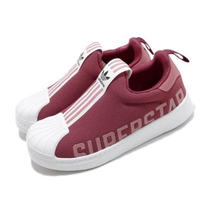 adidas 休閒鞋 Superstar 360 X C 童鞋 愛迪達 三葉草 套入式 貝殼頭 粉 白 FX4917