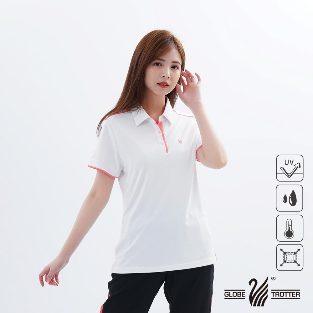 【遊遍天下】女款吸濕排汗抗UV機能POLO衫GS1033白玫紅