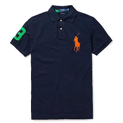 Polo Rlaph Lauren 經典電繡大馬Polo衫(Custom)-深藍色