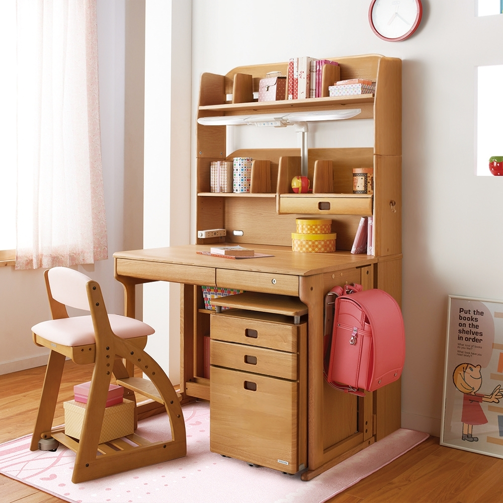 KOIZUMI_Woody兒童成長實木書桌組ODS-591