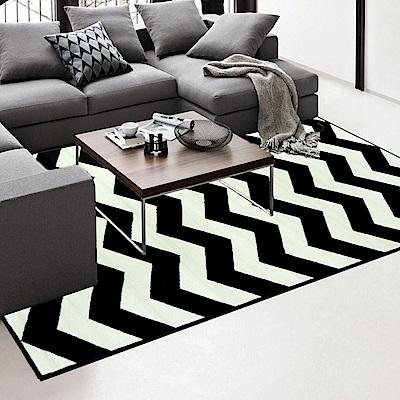 Ambience 比利時Shiraz 地毯-黑與白(波紋160x230cm)