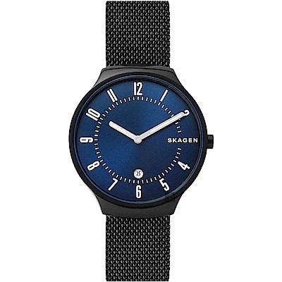 SKAGEN Grenen 石英米蘭帶錶-藍x黑/40mm (SKW6461)