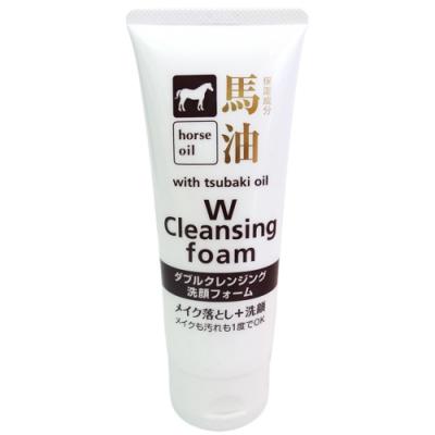 日本馬油卸妝洗面乳130g-3入組