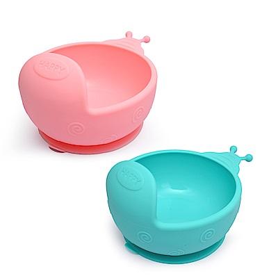 EXPECT蝸牛矽膠吸盤碗2入組-顏色隨機