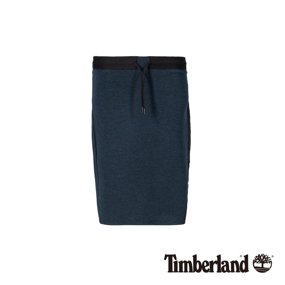 Timberland 女款直布羅陀海峽藍色針織中長裙 B4306