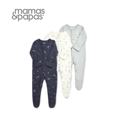 Mamas&Papas 太空漫步-連身衣3件組