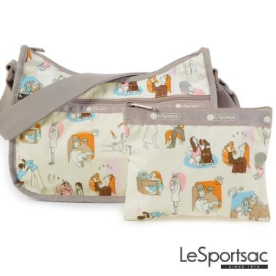 LeSportsac - Standard側背水餃包/流浪包-附化妝包 (歐式休閒)