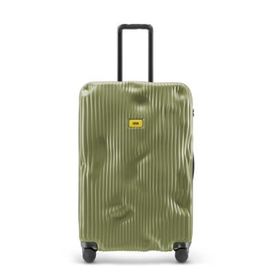 【Crash Baggage】Stripe拉鍊款29吋條紋橄欖綠防撞行李箱