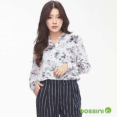 bossini女裝-圖案長袖襯衫01白