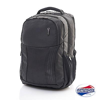 AT美國旅行者 Logix流暢線條筆電收納後背包(黑)