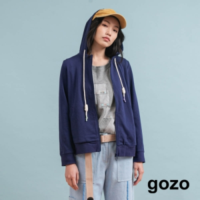 gozo 風動結構連帽外套(深藍)