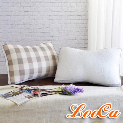 LooCa-全智能三段式乳膠負離子獨立筒枕兩入組