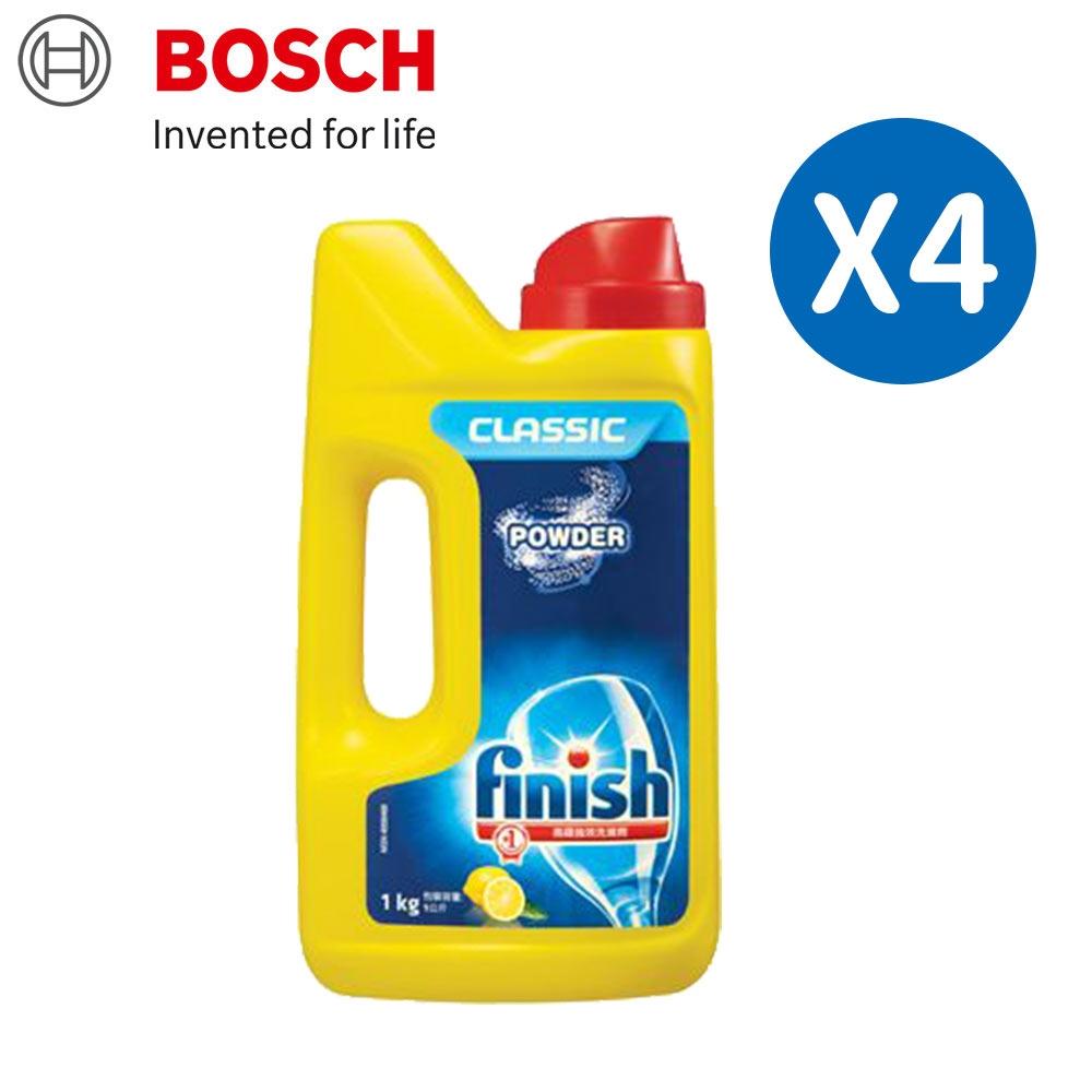 BOSCH 博世 洗碗機專用洗碗粉 (1kg瓶裝) 四入組