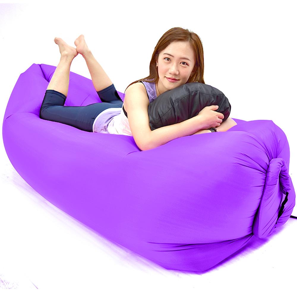 懶人沙發椅(快速充氣懶骨頭躺椅)-(快)