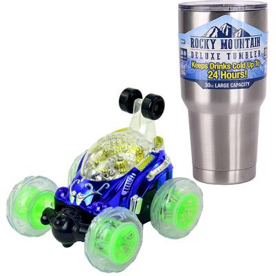 《Dump Car》聲光音效360度翻滾遙控車附USB充電線+冰霸杯