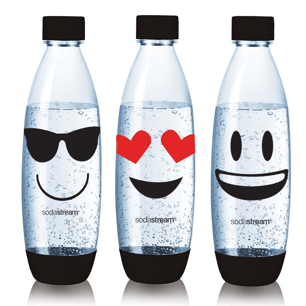 Sodastream 水滴型專用水瓶1L 3入(Emoji)