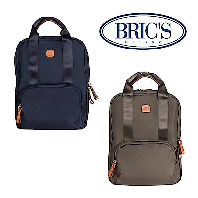 BRICS 義大利製造 深藍色 可手提 電腦後背包