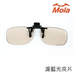 MOLA摩拉防藍光/濾藍光/抗藍光眼鏡夾片 可上掀 非鍍膜 永久有效Ta-c131br