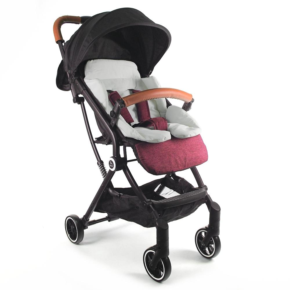 Yip Baby 抗震嬰兒登機推車-亞麻紅