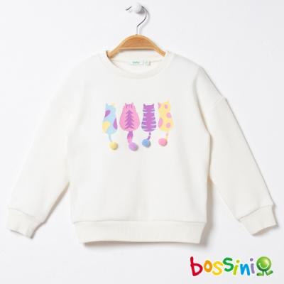 bossini女童-刷毛厚棉上衣02乳白