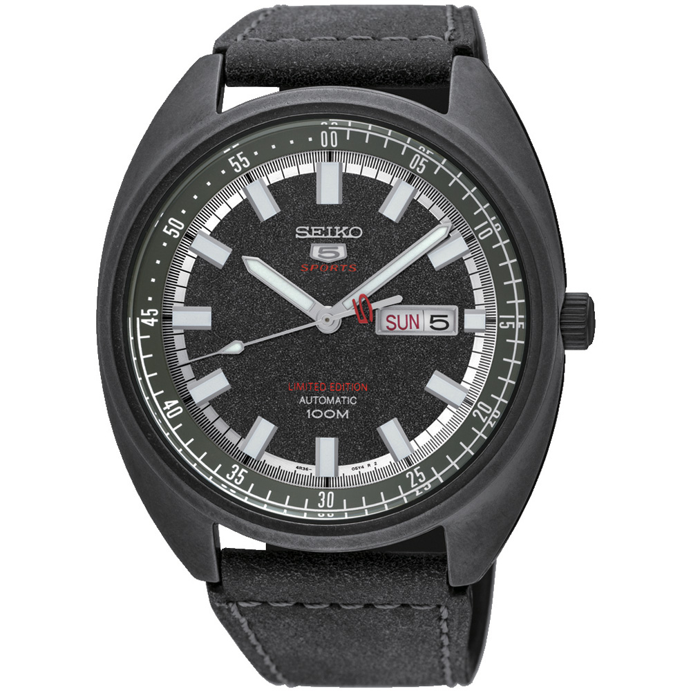 SEIKO 5號24石盾牌限量機械腕錶 4R36-06E0SD SRPB73J1