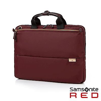 Samsonite RED AURICE 都會商務超輕薄筆電公事包15.6 (酒紅)