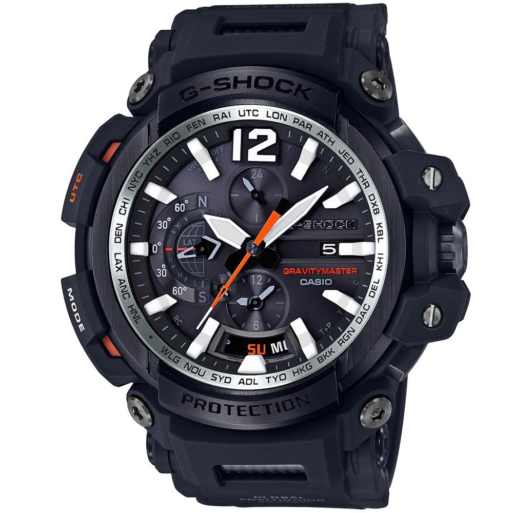 G-SHOCK強悍進化藍牙GPS接收電波飛行概念錶(GPW-2000-1)橘針57.2mm
