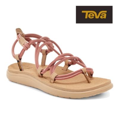【TEVA】原廠貨 女 Voya Infinity Space Dye 羅馬寬織帶涼鞋/雨鞋/水鞋(磚紅色-TV1116690ARGN)