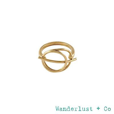 Wanderlust+Co INFUSION系列 星軌鍍18K金戒指 戒圍7