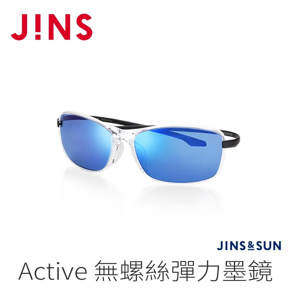 JINS&SUN Sports 無螺絲彈力運動墨鏡(AMRF21S134)透明