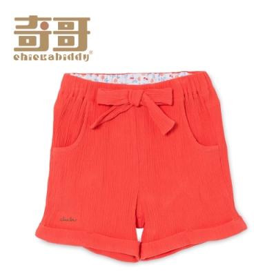 奇哥 水果甜心蝴蝶結短褲-珊瑚橘 (2-5歲)