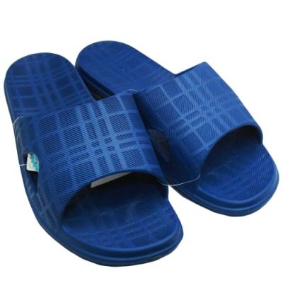 圓玫拖鞋 2雙入-男-深藍