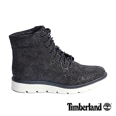 Timberland 女款黑色印花皮革6吋靴