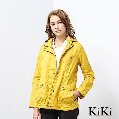 KiKi INLook 多功能收腰連帽夾克外套(黃色)