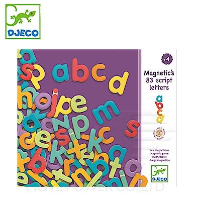 【任選】法國《DJECO-智荷》磁鐵拼圖-小寫字母