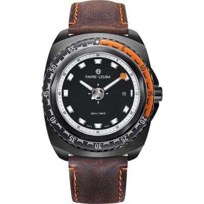FAVRE-LEUBA 域峰 RAIDER Deep Blue 300米潛水機械錶-黑/44mm