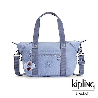 Kipling溫柔粉藍手提側背包(小)-ART MINI